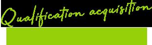 Qualification acquisition